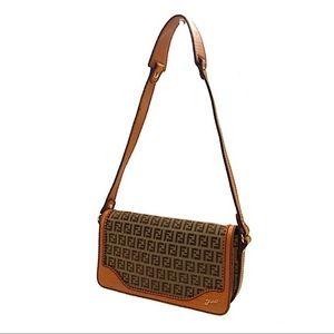 Authentic Vintage Fendi Zucca Shoulder Bag